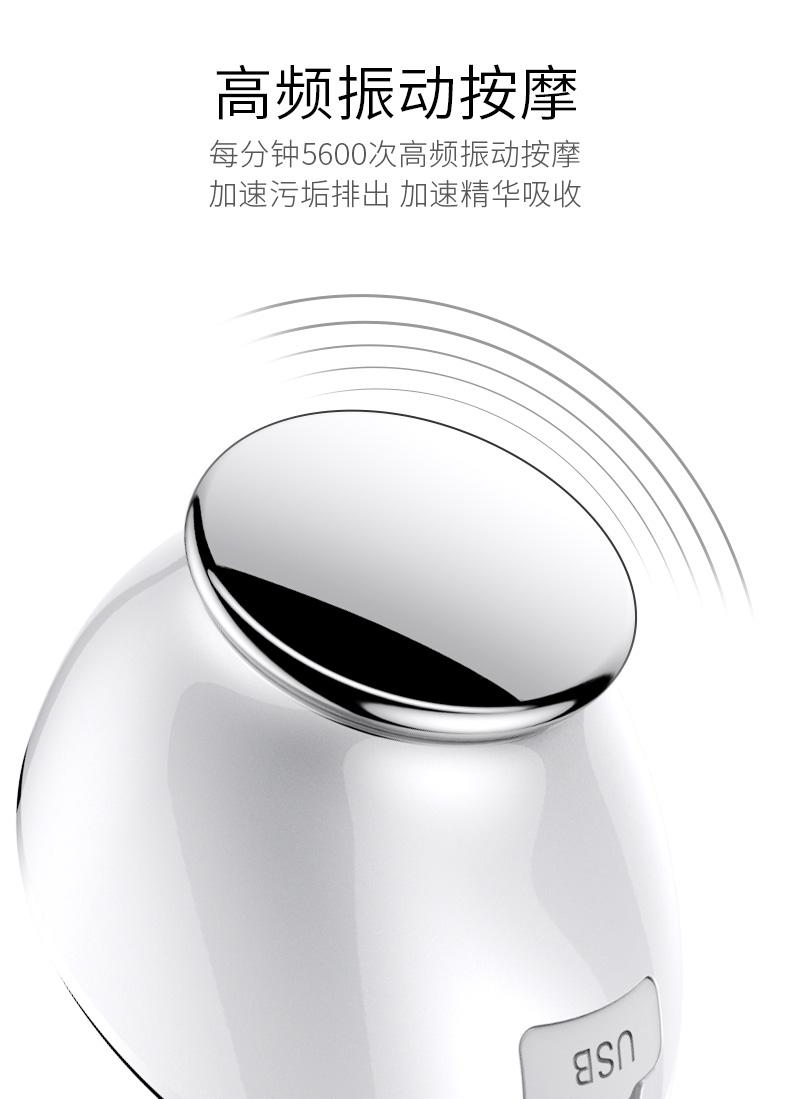 热感导入导出硅胶洁面美容仪